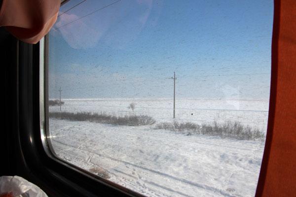 Steppe depuis le train