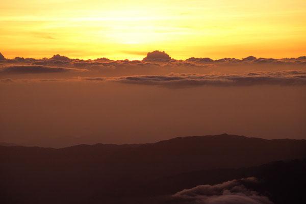 Mer de nuage depuis Le volcan Baru.