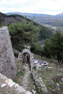 Les déchets sont bien répandus dans les forêts en Albanie