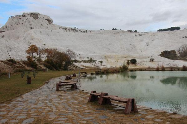 Pamukkale - source chaude et calcaire