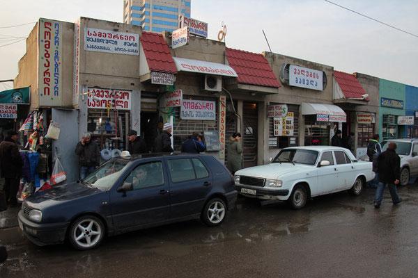 Tbilissi, arrêt de bus en géorgien
