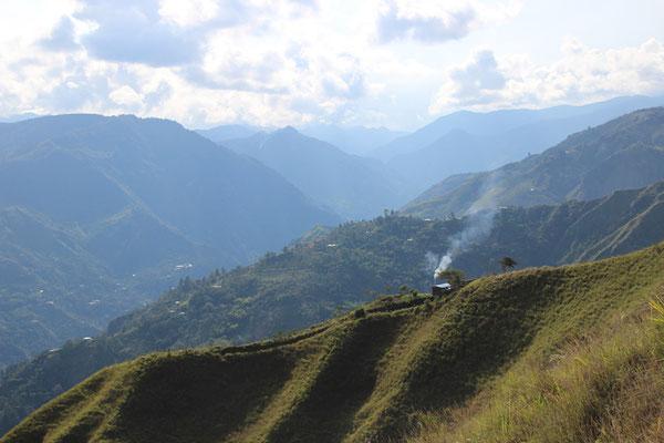 Vue depuis les collines de San Andres (Tierradentro)