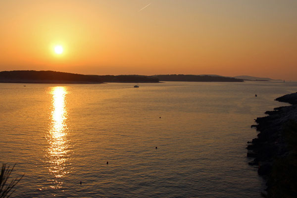 Le soir sur l'île d'Hvar