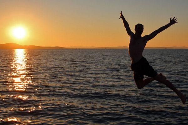 Couché de soleil à Zadar