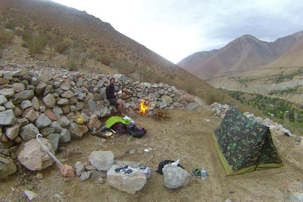 Camping Sauvage dans la vallée d'Elqui