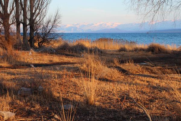 Lac d'Issyk Kul fin de journée