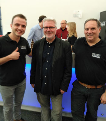 Thomas Lindt mit Lode Violet und Simon Van den Eede