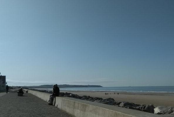 Blick nach links auf das Cap Gris-Nez