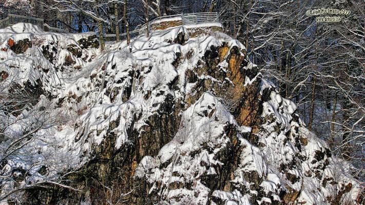Totenstein im Winter