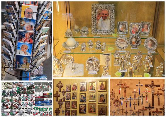 Andenkenladen auf dem Petersdom