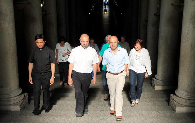 Pater Franz führte uns durch die Sixtinische Kapelle