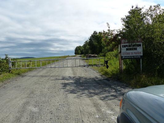 Chemin d'accès à la carrière Baskatong à Saint-Ludger de Beauce, Québec