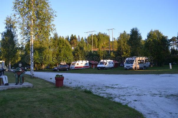 Übernachtung/Camping kurz vor Grängesberg ...