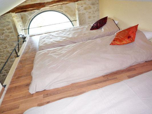 Chambre 1, couchages en mezzanine - Étage