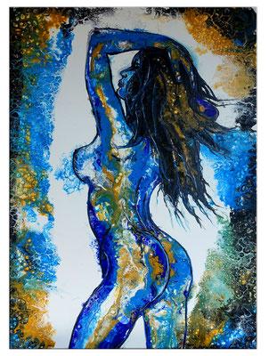 Verführung Abstrakte Erotik Malerei Nackte Frau Erotisches Gemälde Acrylbild Unikat