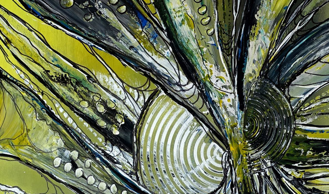 Expansion abstrakte Malerei Acrylbild Gemälde Kunst gelb abstrakt