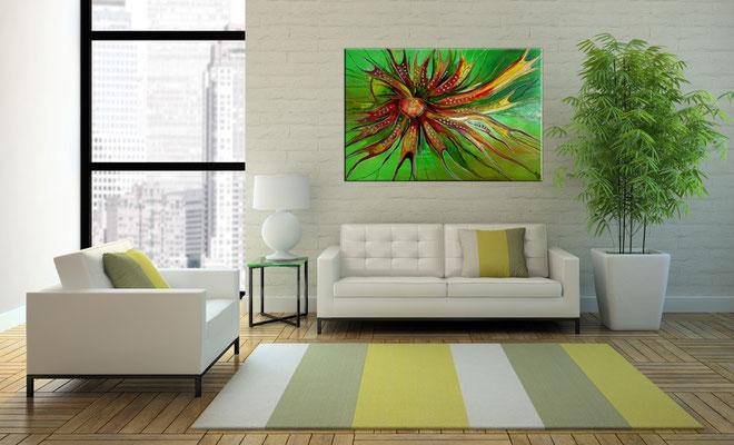 Esprit Moderne Malerei abstrakte Wandbild handgemalt Leinwandbild Acrylbild Gemälde