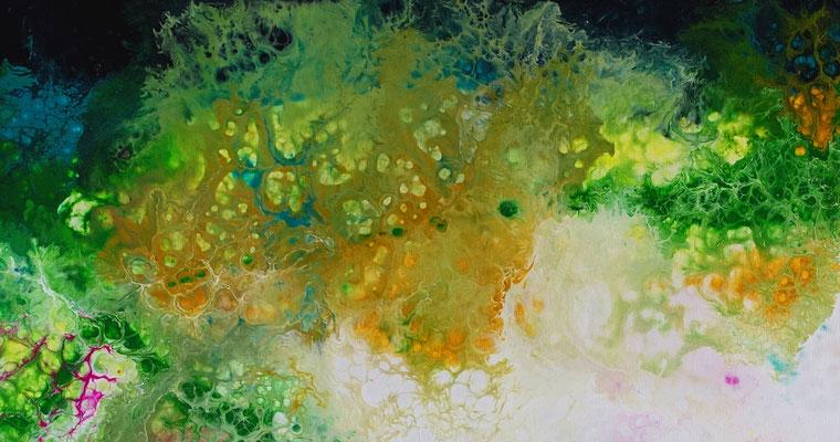 Frühling Moderne Malerei Fluid Art Künstler Bilder Originale Gemälde