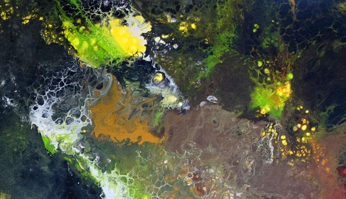 Borneo abstrakte Kunst Malerei Acry lbild handgemalt Unikat Einzelstück grün