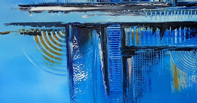 Stralsund abstrakte Kunst malerei original gemälde künstler bild gemalt Praxis