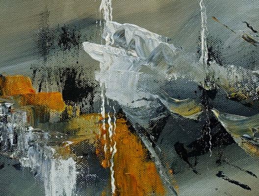 Schiffsbruch abstraktes Original Gemälde Kunst Bild beige