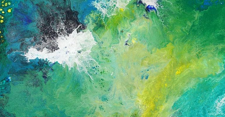 Strömung Wohnzimmerbild abstraktes Kunstbild Original Gemälde