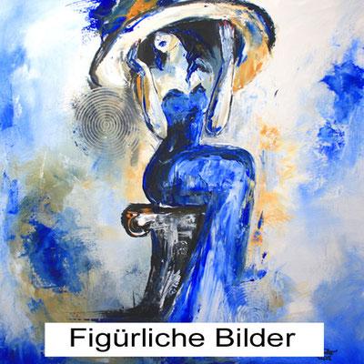 Handgemalte Bilder auf leinwand Menschen Figuren Malerei Acryl