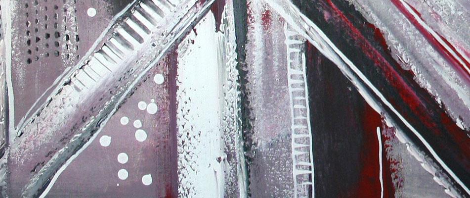 Himmelsleitern XXL rosa abstraktes Bild Gemälde