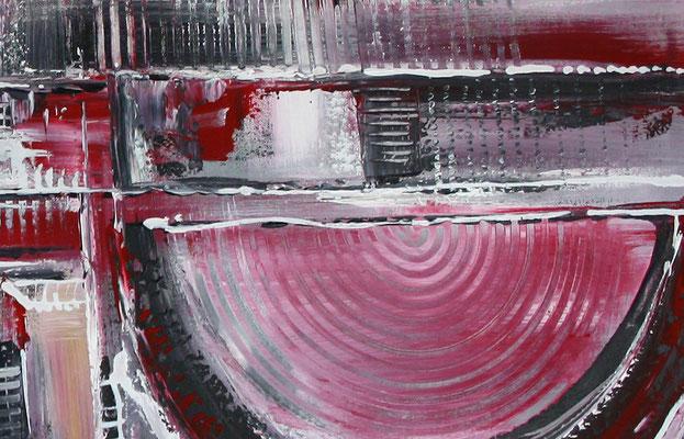 Himmelsleitern XXL rosa abstraktes Bild Gemälde handgemalt Kunst Malerei