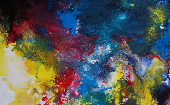 Supernova 5 Abstrakte Kunst Malerei Wandbild abstrakt Acrylgemälde Unikat