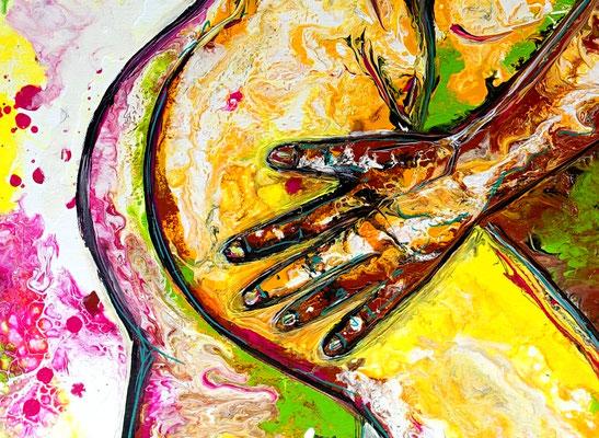 Begierde Erotik Bild Liebespaar Erotisches Gemälde Malerei Kunst