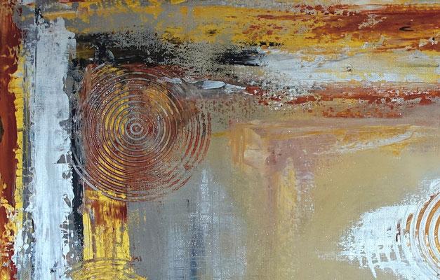 Wandbild Karaffe Cognac Whiskey Gläser abstrakte Malerei handgemalt
