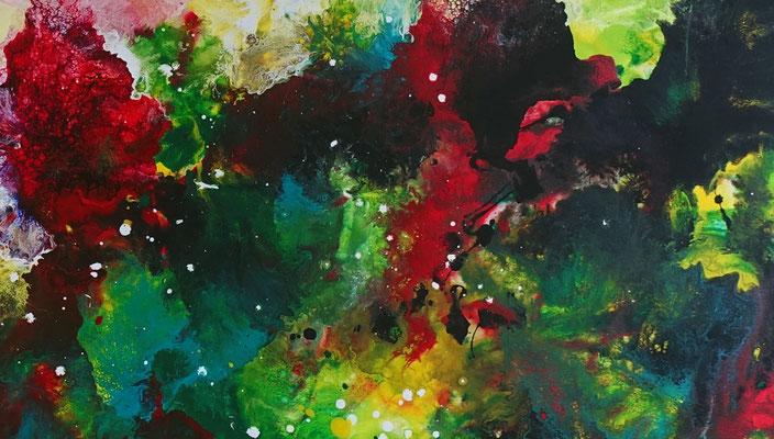 Farbenrausch abstraktes Kunstbild Leinwandbild Acrylgemälde