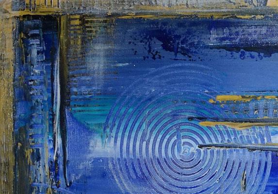 Unter Wasser Stadt abstrakte Gemälde Leinwandbild Wandbild Acrylbild