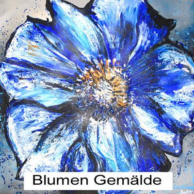Handgemalte Blumen Bilder - Blumenbilder handgemalt leinwand