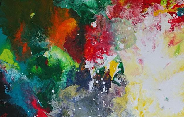 Farbenrausch abstraktes Kunstbild Leinwandbild Acrylgemälde Malerei Unikat