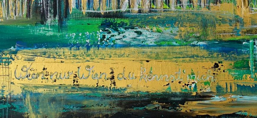 Wien Wandbilder Skyline Stephansdom Prater abstrakt gemalt Acrylgemälde