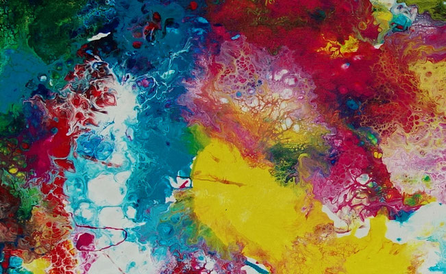 Supernova 3 abstrakte Kunst Malerei Original Gemälde Unikat Leinwand Wandbild