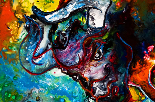 Veneno Wilder Stier abstrakt Torro Bulle Wandbilder moderne Tier Malerei