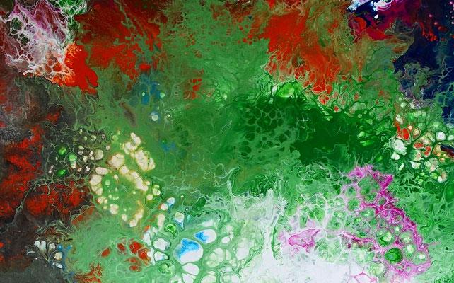 Spektrum Fluid Art abstrakte Kunst Moderne Malerei Gemälde Wandbild 80x80