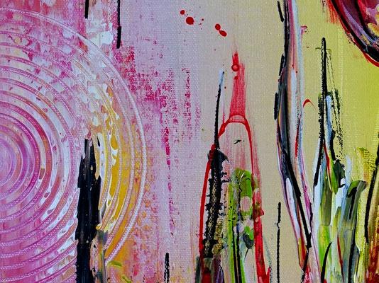3 Tulpen hangemalt Blumen Malerei Acryl Wandbild Gemälde 40x50