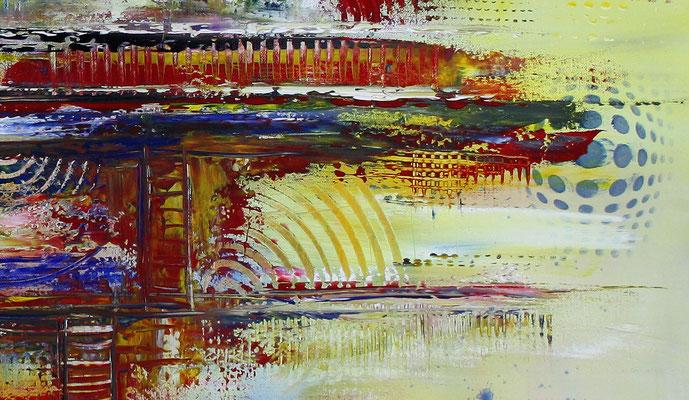 Timbuktu XXL gelb abstrakte kunst malerei bild leinwandbild