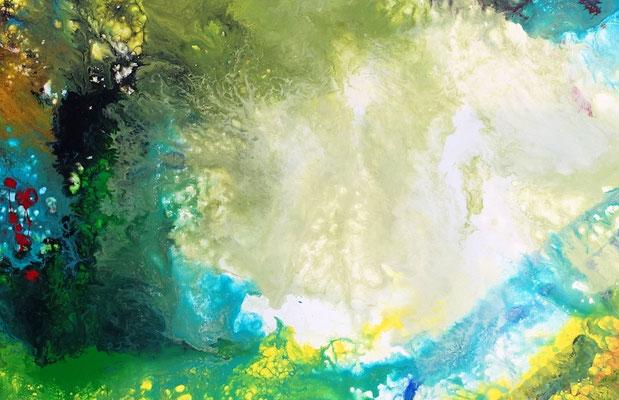 Costa Rica Wandbild Abstrakte Malerei Kunstbild Fluid Art Original Gemälde