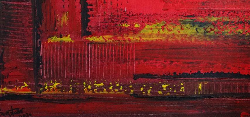 Glut abstraktes Wandbild rot schwarz Malerei Leinwandbild Gemälde Unikat