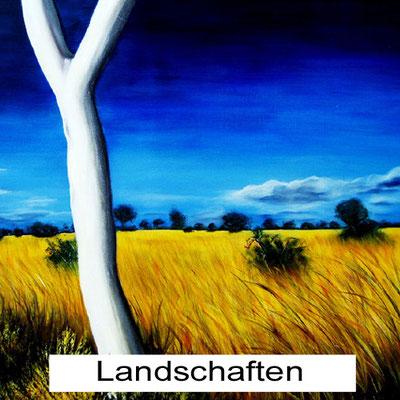 XXL Handgemalte Bilder Landschaften gemalt Acryl