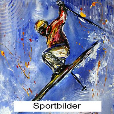 Wandbilder Sport kaufen - Sportmotive Wandbilder handgemalt