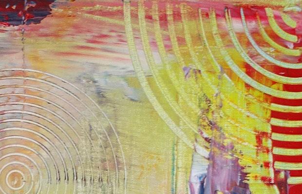 Weinglas Flasche abstrakte Malerei Gläser Rotwein Wandbild 50x60