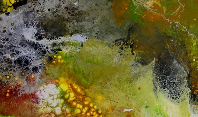 Borneo abstrakte Kunst Malerei Acrylbild handgemalt Einzelstück grün