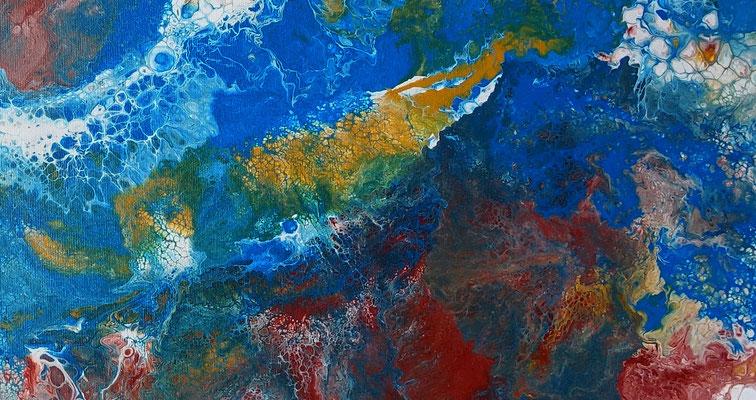 Amazonas abstraktes Leinwandbild Bild handgemalt Modern Gemälde Unikat
