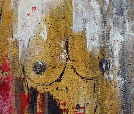 Brüste, Frau, abstrakt, Gemälde, Wandbild, Malerei, Kunstwerk, handgemaltes Bild